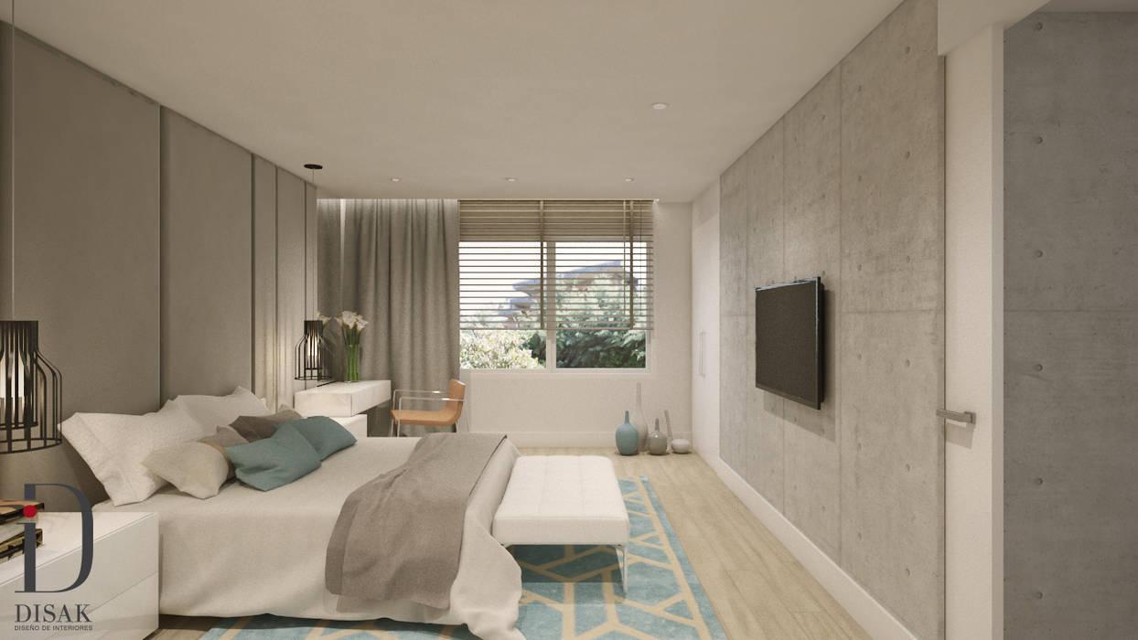 Suite moderna y acogedora: Dormitorios de estilo  de Disak Studio