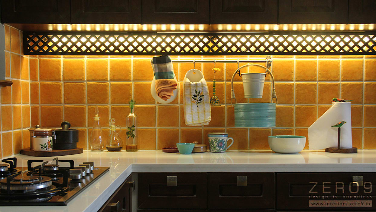 task lighting for kitchen: country Kitchen by ZERO9
