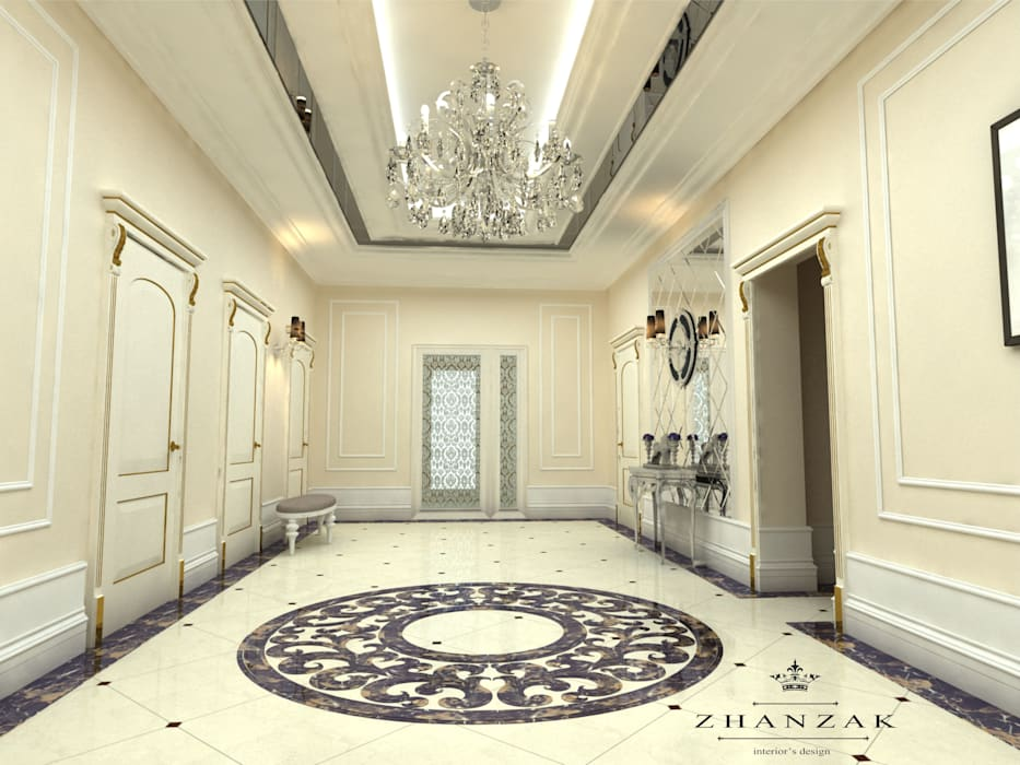 Classic style corridor, hallway and stairs by ZHANZAK Classic