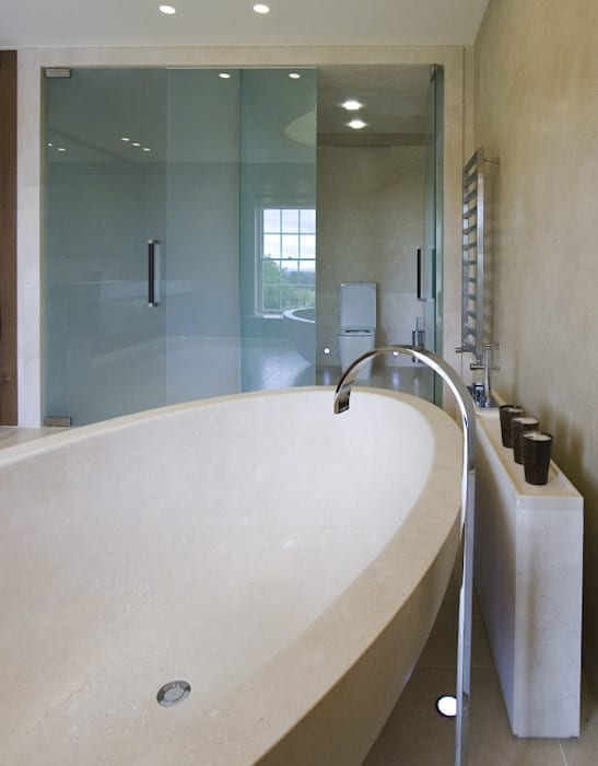 Sliding frameless glass doors by Ion Glass Modern Glass
