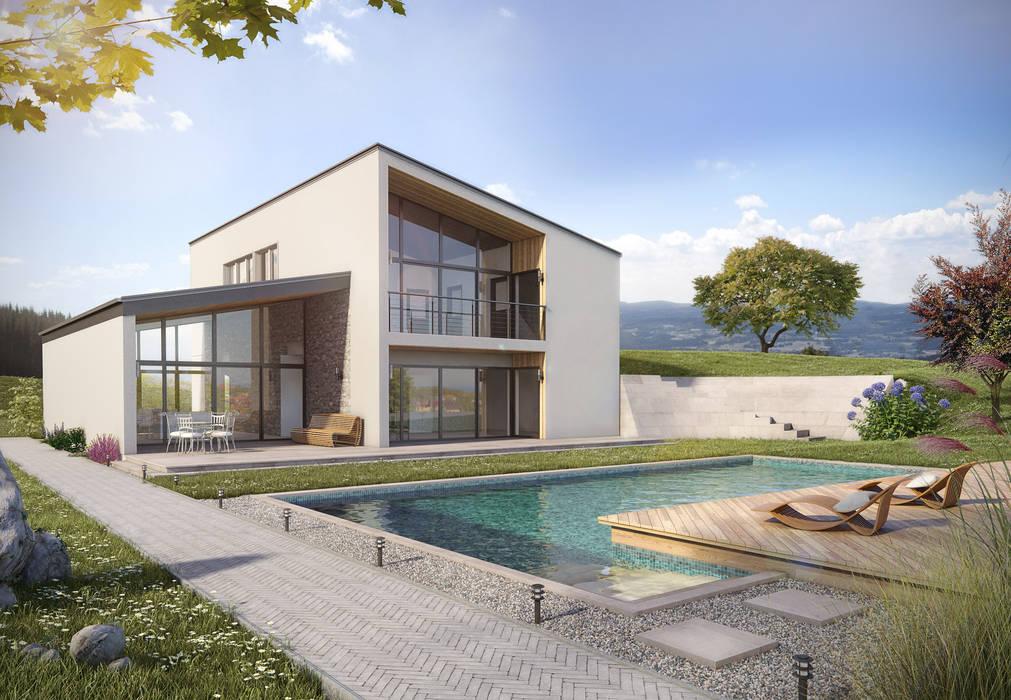 Villa à la campagne: Jardin de style de style Méditerranéen par Deesys graphics
