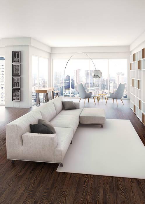 Visuel d'un appartement: Salon de style  par Deesys graphics