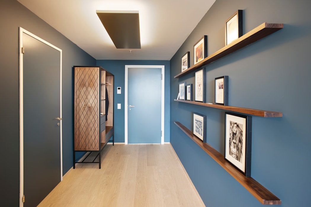 Penthouse, Zurich 現代風玄關、走廊與階梯 根據 Studio Frey 現代風