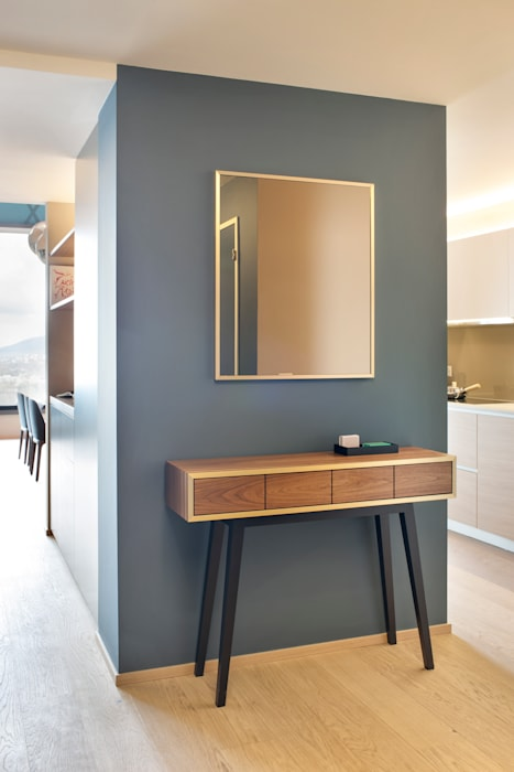 Penthouse, Zurich Studio Frey Ingresso, Corridoio & Scale in stile moderno
