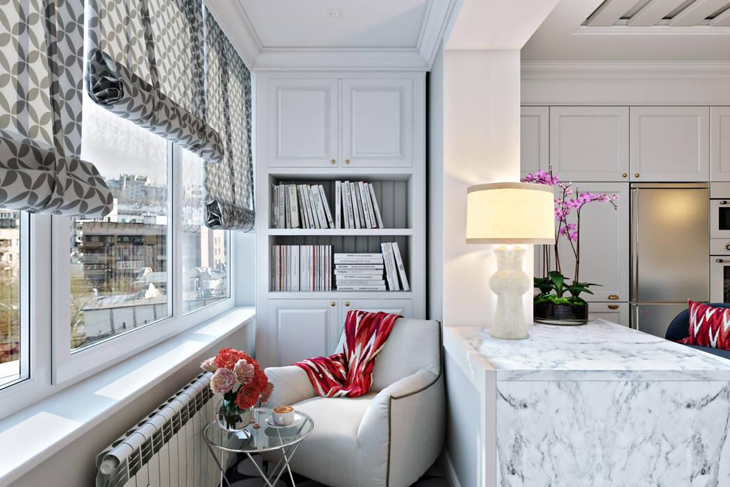 Балкон на кухне Балконы и веранды в эклектичном стиле от homify Эклектичный Дерево Эффект древесины