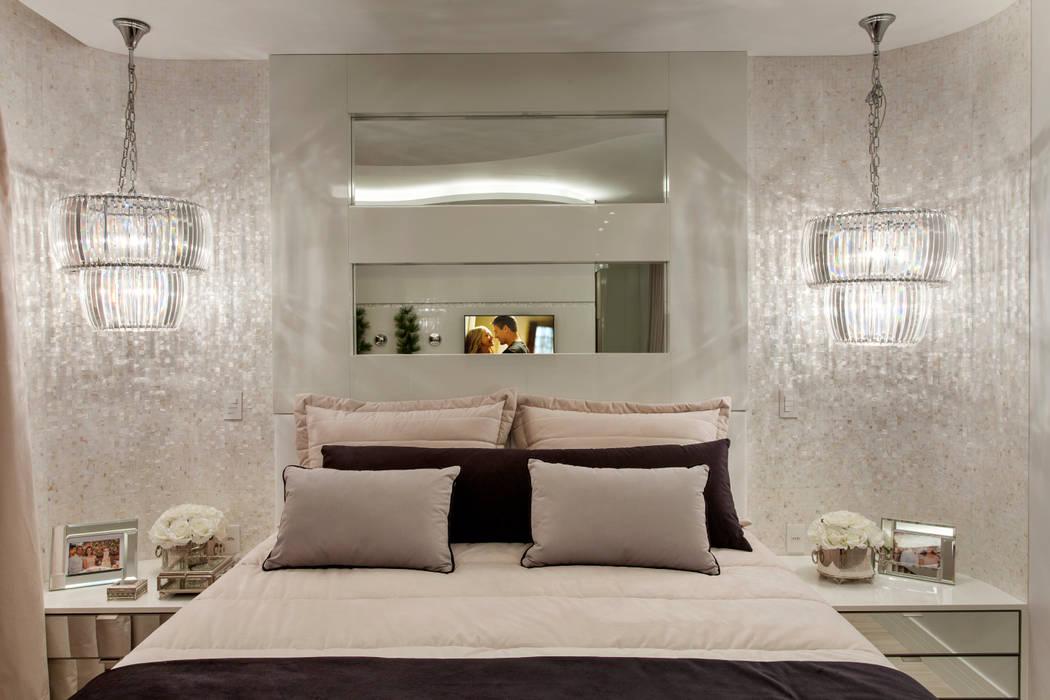 Arquiteto Aquiles Nícolas Kílaris Modern style bedroom Beige