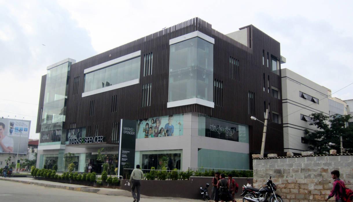 Commercial Complex at Koramangala, Bangalore Modern offices & stores by Parikshit Dalal Design + Architecture Modern Concrete