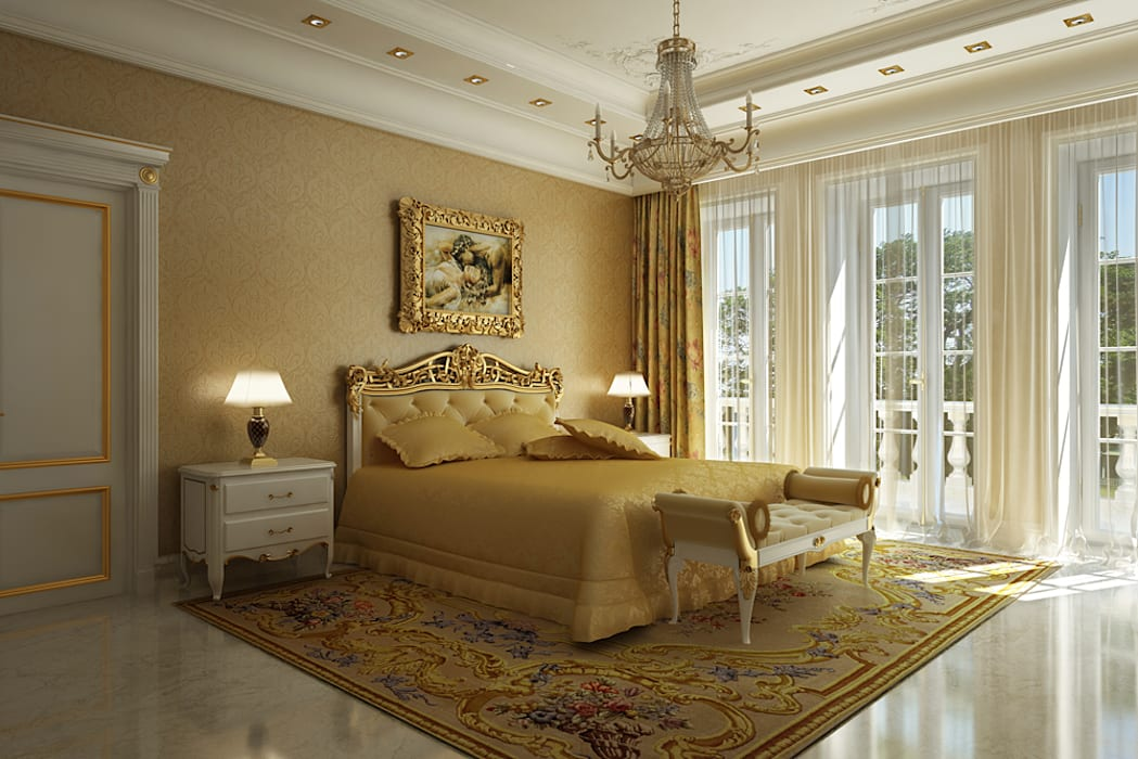 Chambre de style  par Design studio of Stanislav Orekhov. ARCHITECTURE / INTERIOR DESIGN / VISUALIZATION., Classique