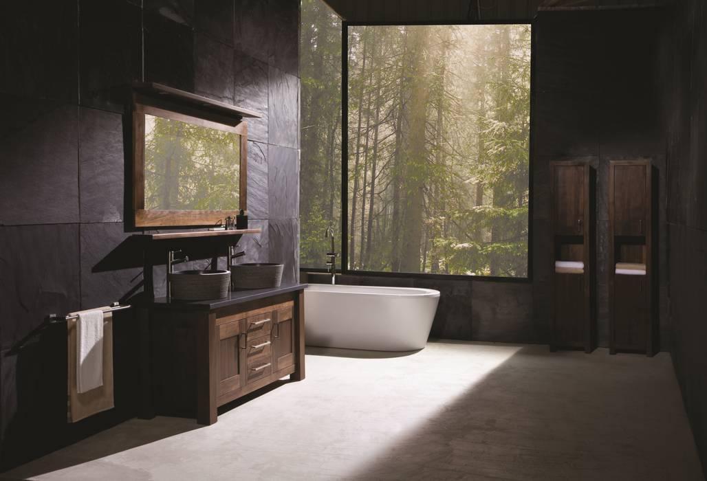 Full Bathroom Walnut Finesse Range Stonearth Interiors Ltd Modern bathroom Solid Wood