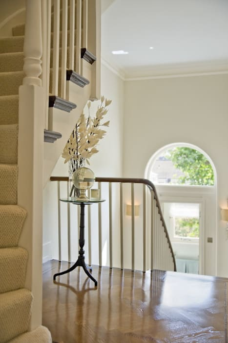 Staircase at the Chester Street House Classic style corridor, hallway and stairs by Nash Baker Architects Ltd Classic
