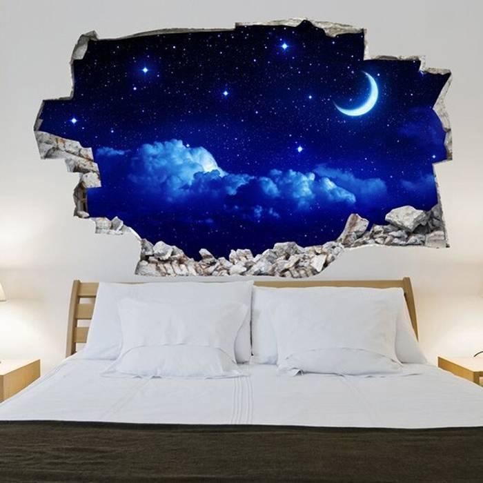3d Vinyl Wandsticker Nachthimmel Schlafzimmer Von Lesara Homify