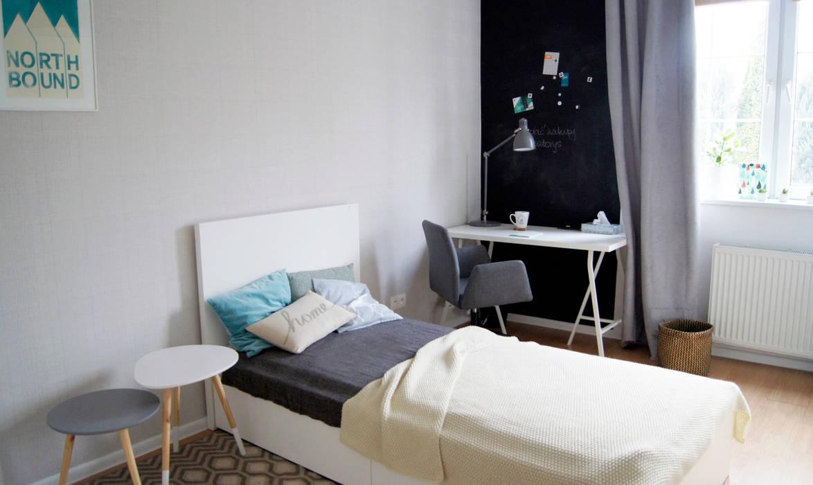 Dormitorios de estilo  por JUSSS, Escandinavo