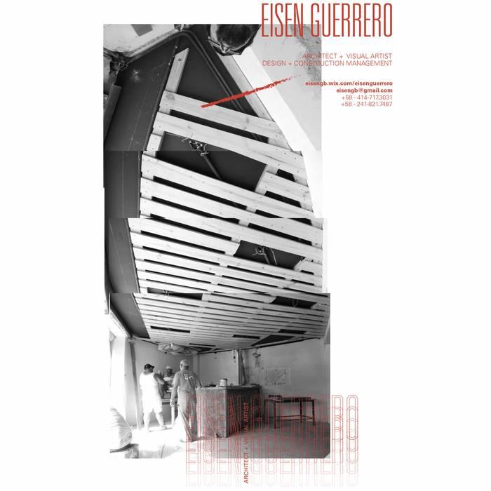 Techo en la fase de ejecución: Bodegas de vino de estilo  por Eisen Arquitecto,