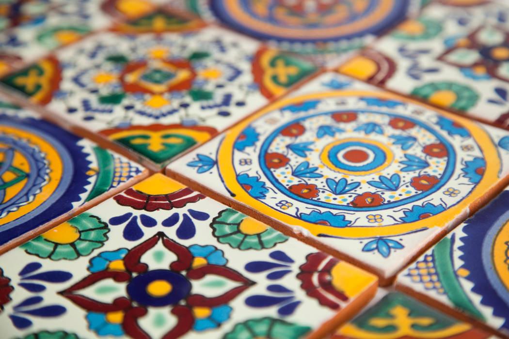 Meksykańskie płytki ręcznie malowane wielokolorowe od Kolory Meksyku Egzotyczny Ceramika