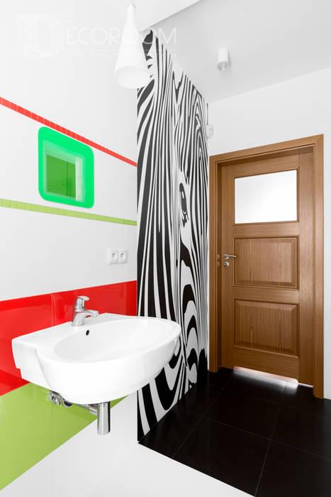 nie bój się koloru. Nowoczesna łazienka od Decoroom Nowoczesny