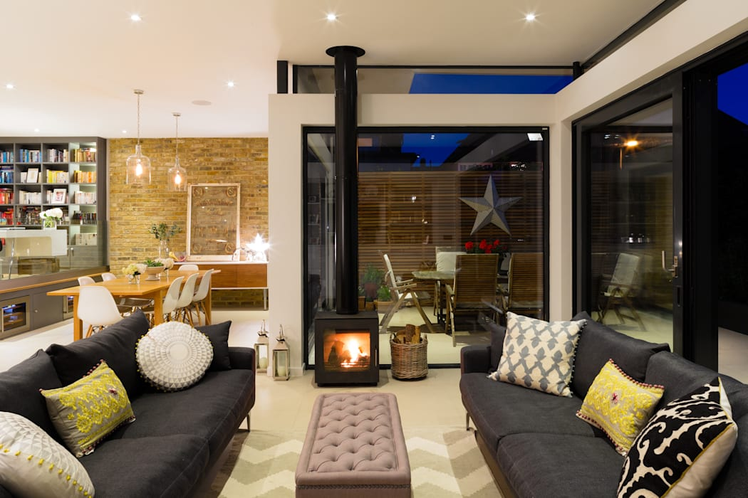 Broadgates Road Modern living room by Granit Architects Modern