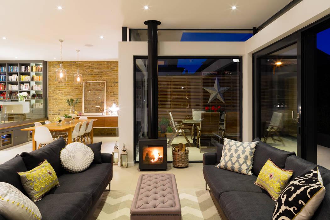 Broadgates Road Granit Architects Salones de estilo moderno