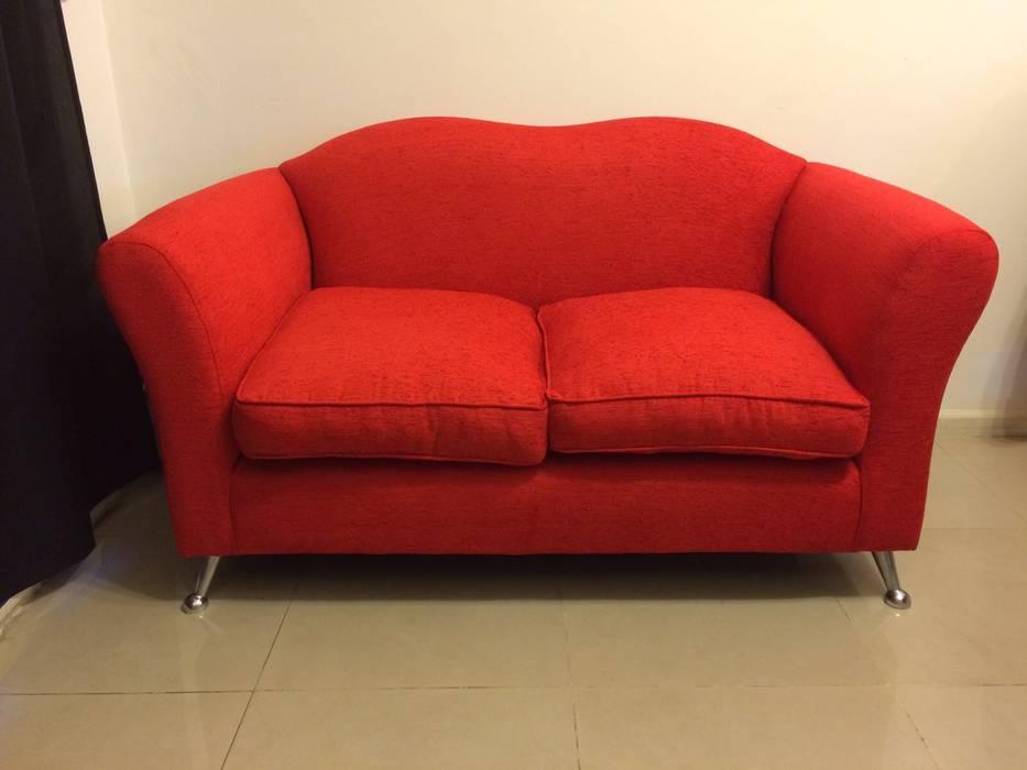 Sofá Trento de Del Pilar Design Moderno Textil Ámbar/Dorado