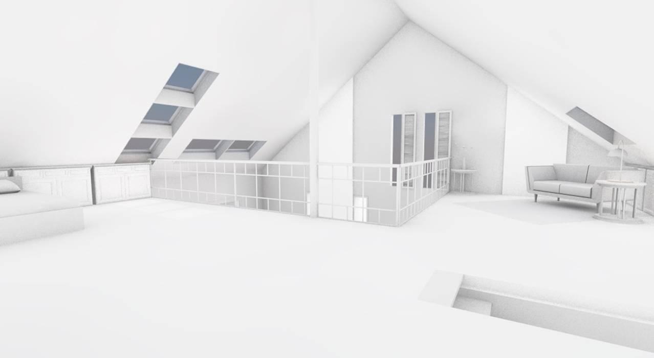 Maison contemporaine bioclimatique: Salon de style de style Moderne par AeA - Architecture Eric Agro