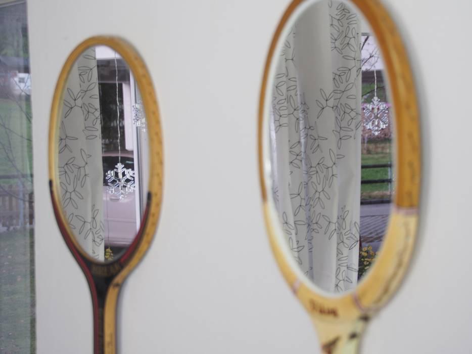 Tennisschl ger spiegel rustikaler flur diele - Rustikaler spiegel ...