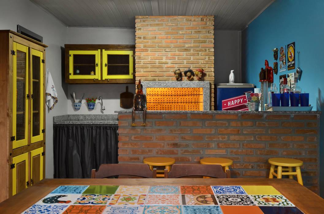 Comedores de estilo  por Arquitetando ideias, Tropical