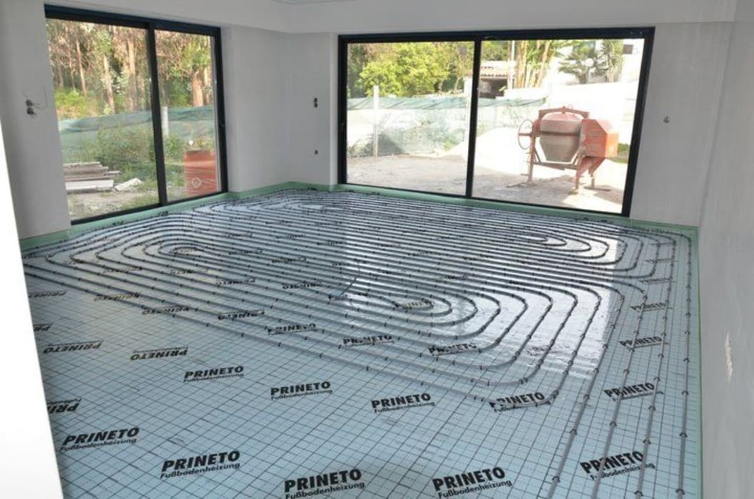 (1) Underfloor heating/ piso radiante: Paredes  por Dynamic444
