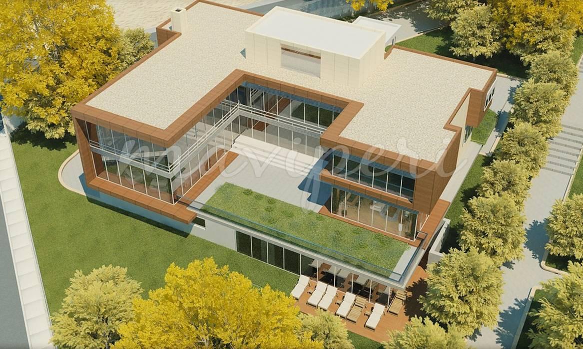 Karaca Residence Modern houses by Maviperi Mimarlık Modern