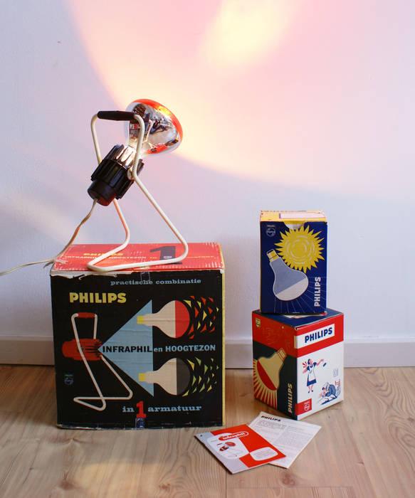 Vintage warmtelamp van philips in doos!!! retro design lamp ...