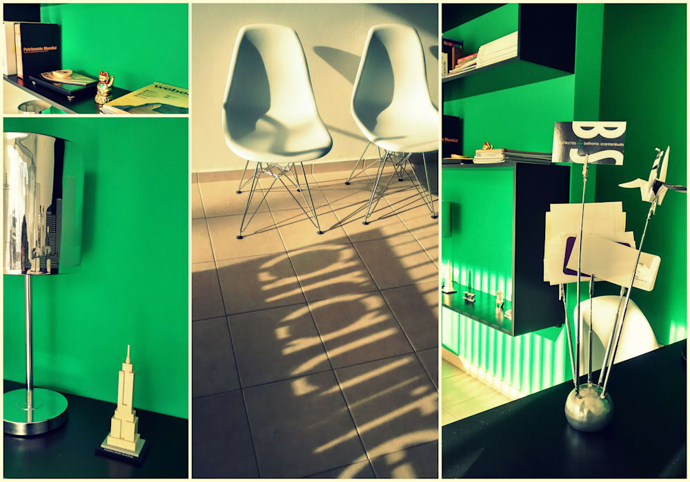 COLLAGE INTERIOR ESTUDIO BS ARQUITECTAS Estudios y oficinas modernos de BS arquitectas - Beltramo + Scantamburlo Moderno