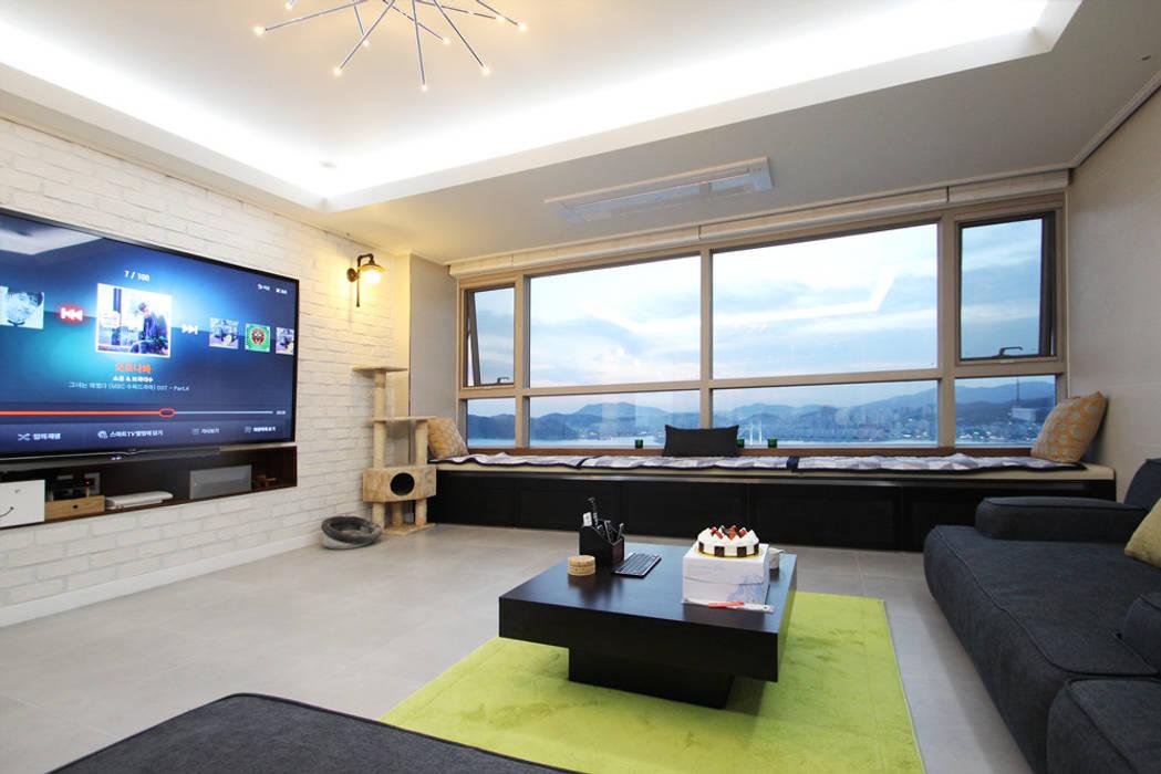 vintage livingroom: 필립인테리어의  거실,