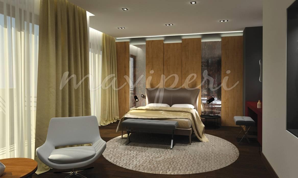 Sinpaş GYO Karaca Residence Modern style bedroom by Maviperi Mimarlık Modern