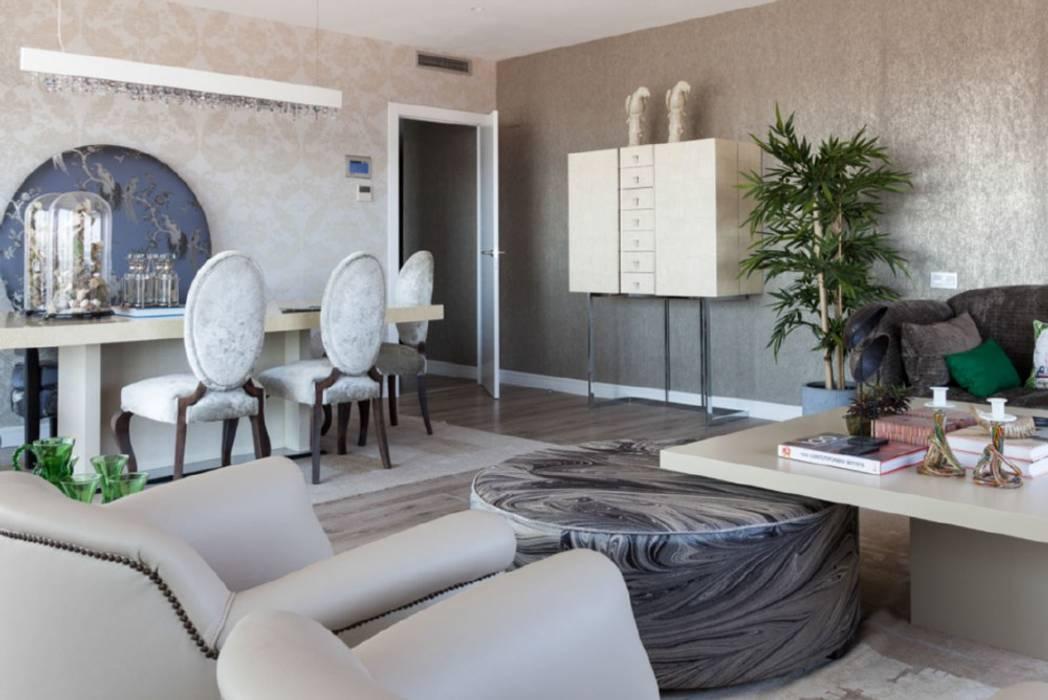 Decoración elegante y moderna para un salón comedor en ...