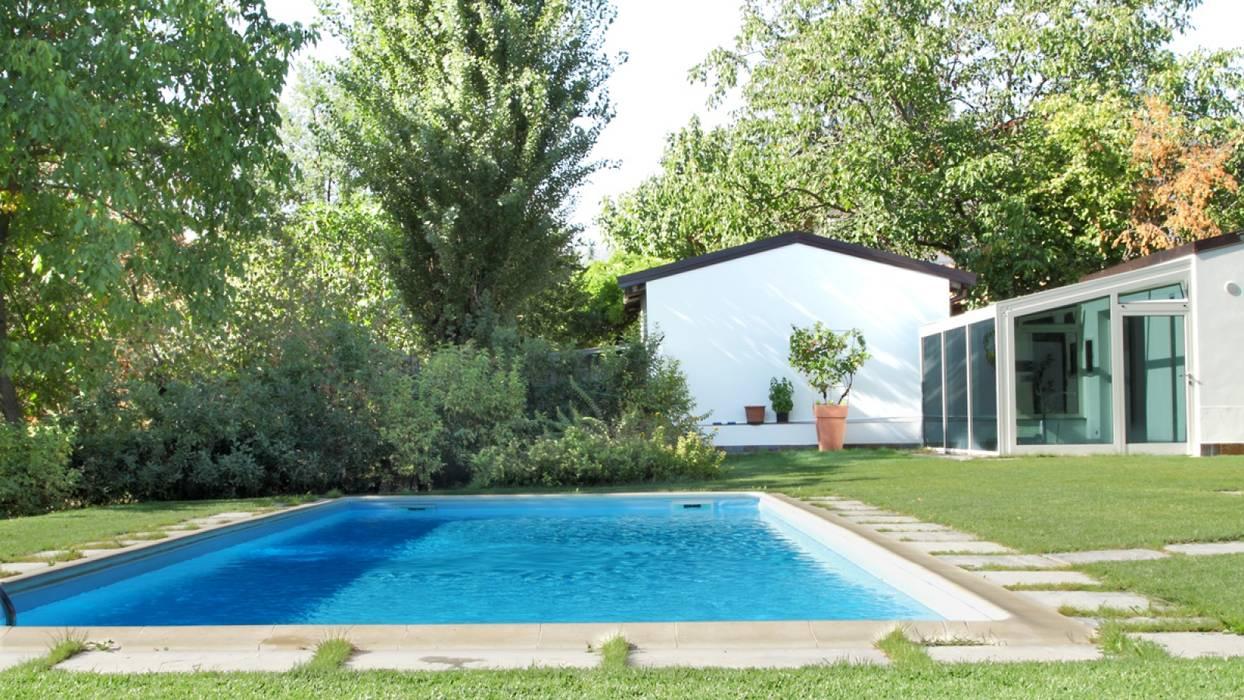 Progettazione Piscina E Giardino In Villa Piscina Moderna Di Vecchi E Cigni Associati Architettura Moderno Homify