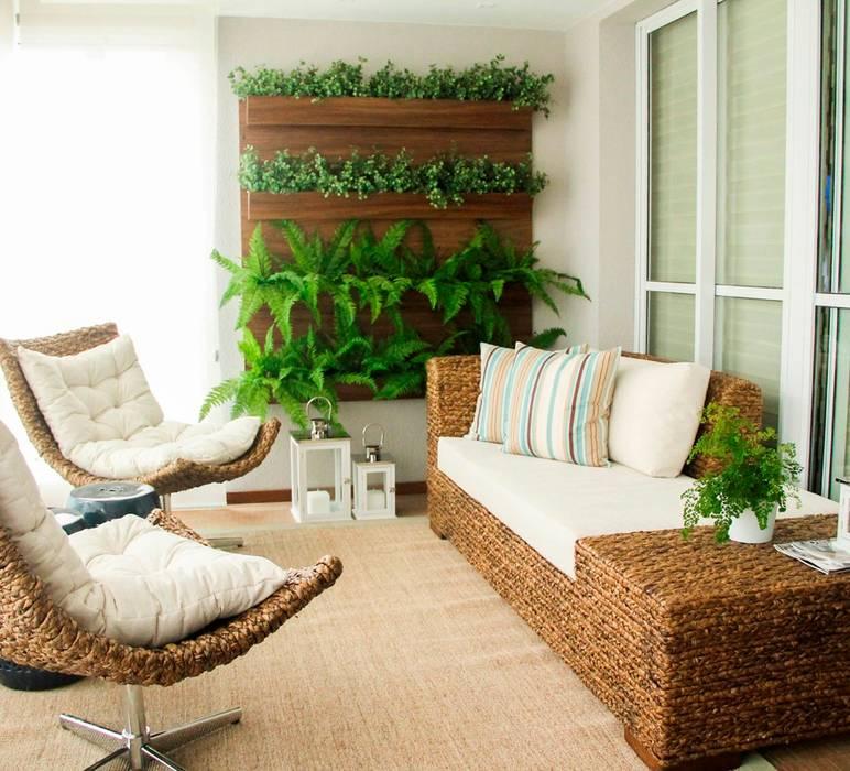 Balcon, Veranda & Terrasse ruraux par Sandro Kawamura Designer de Interiores Rural Bois massif Multicolore