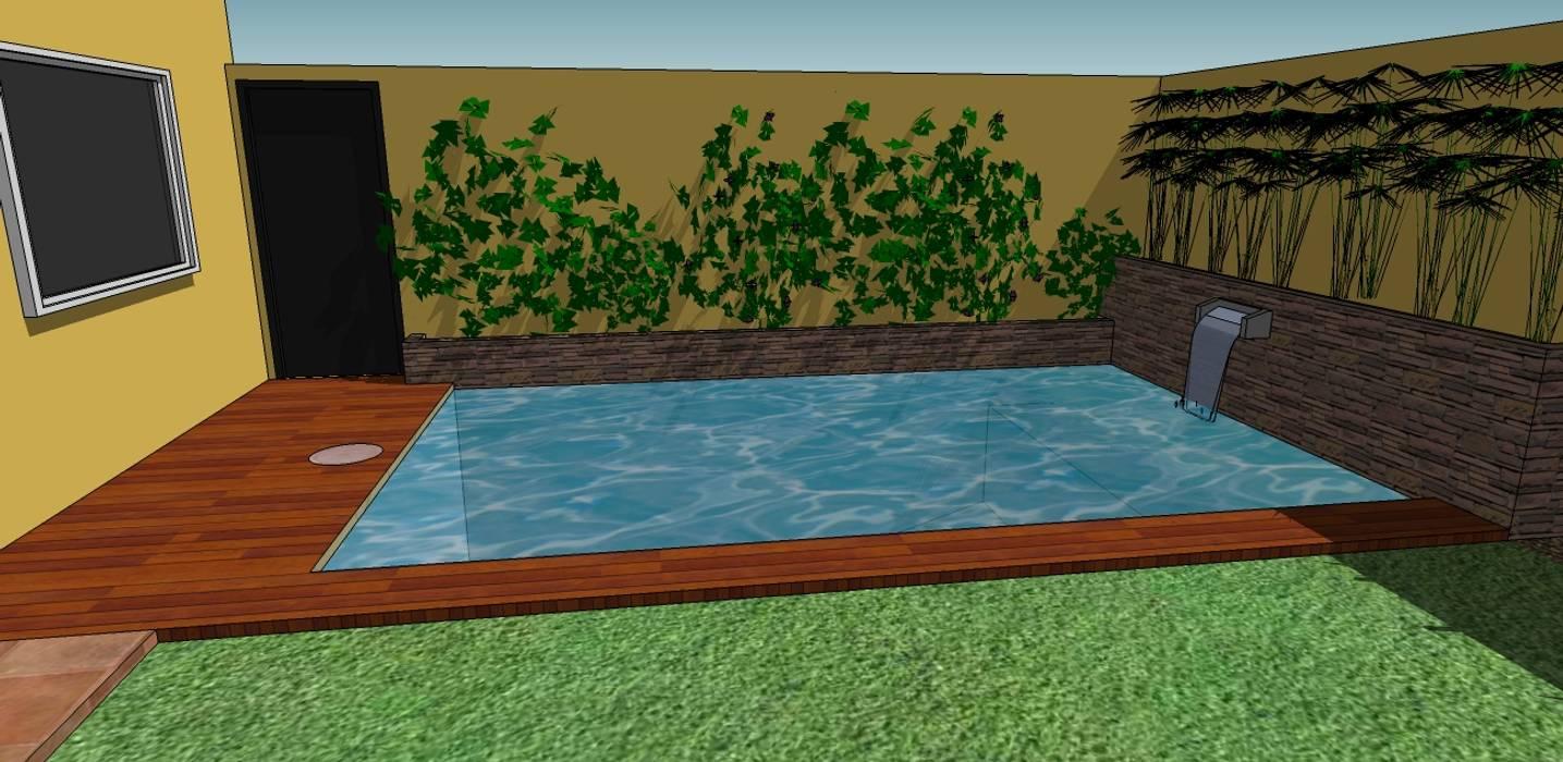 CC|arquitectos Rustic style pool