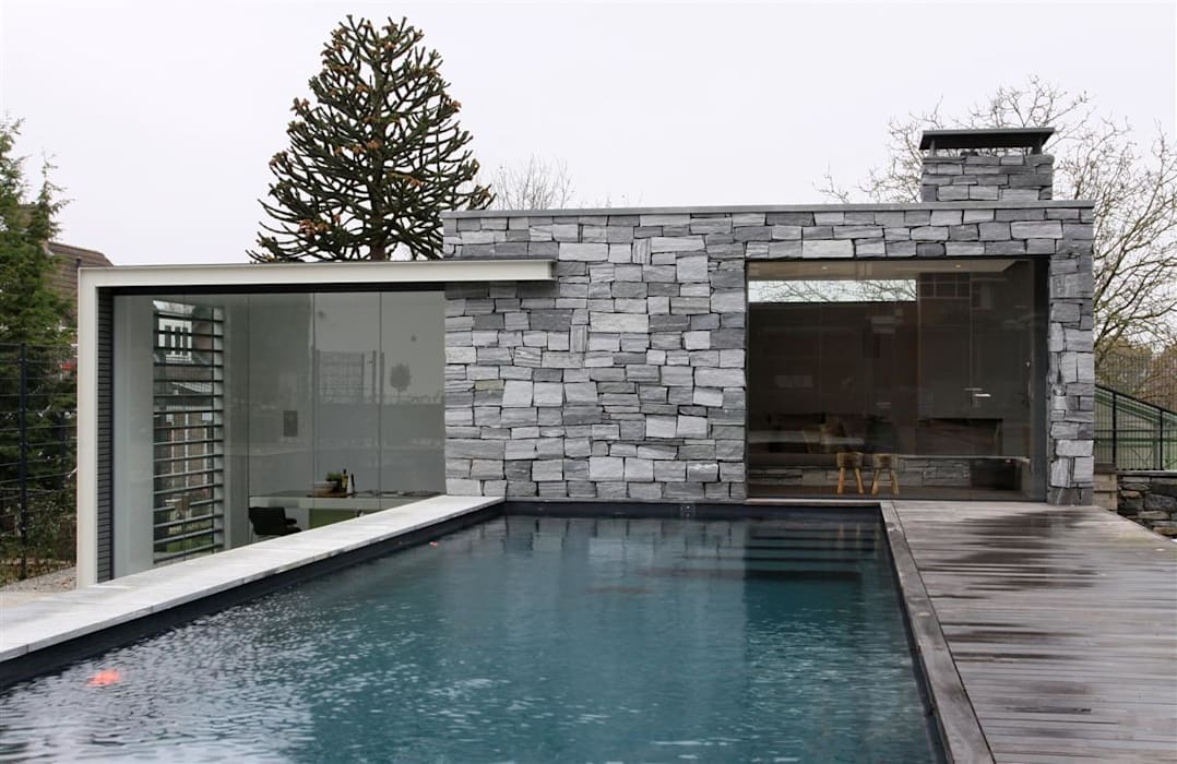 Arend Groenewegen Architect BNA Modern pool Granite Grey