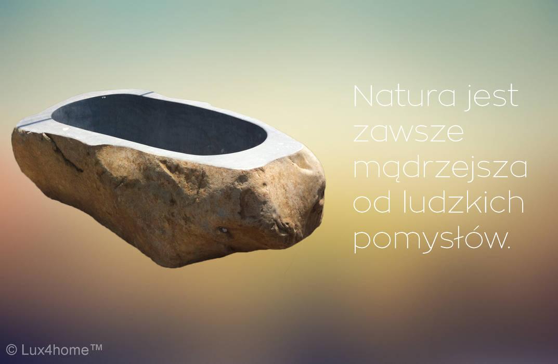 Wanna z kamienia od Lux4home™ Minimalistyczny