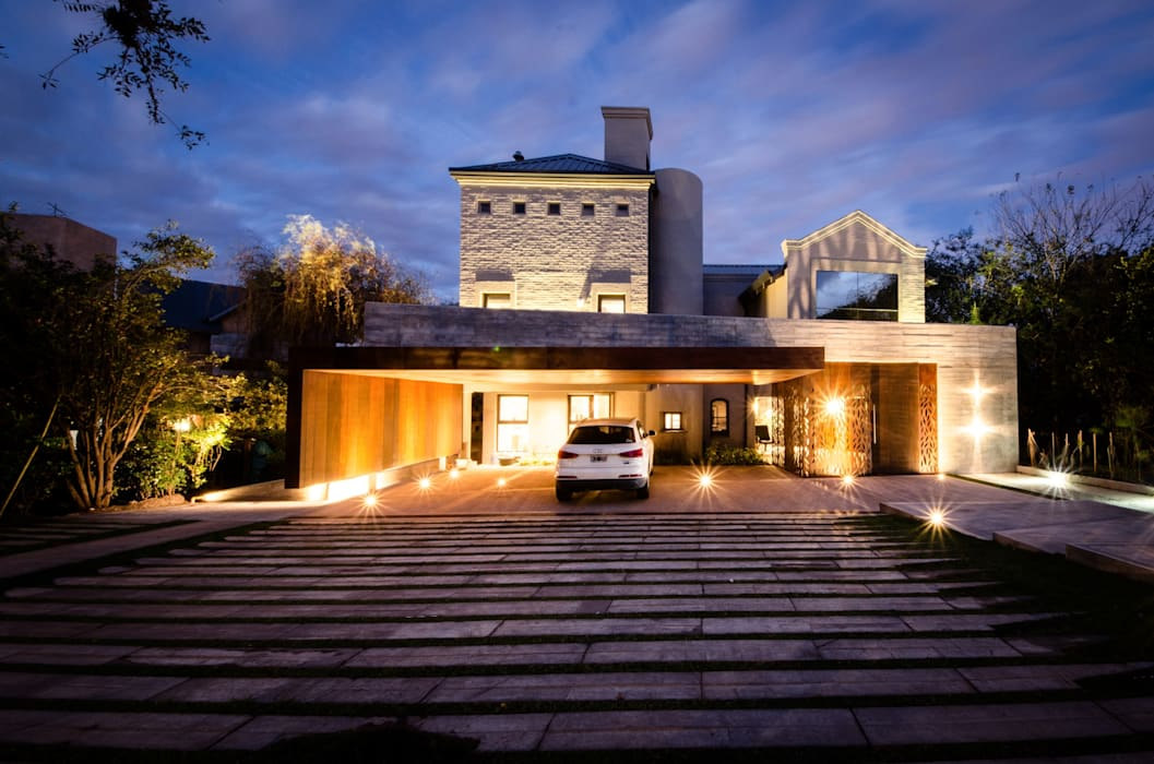 Modern houses by BLOS Arquitectos Modern Concrete