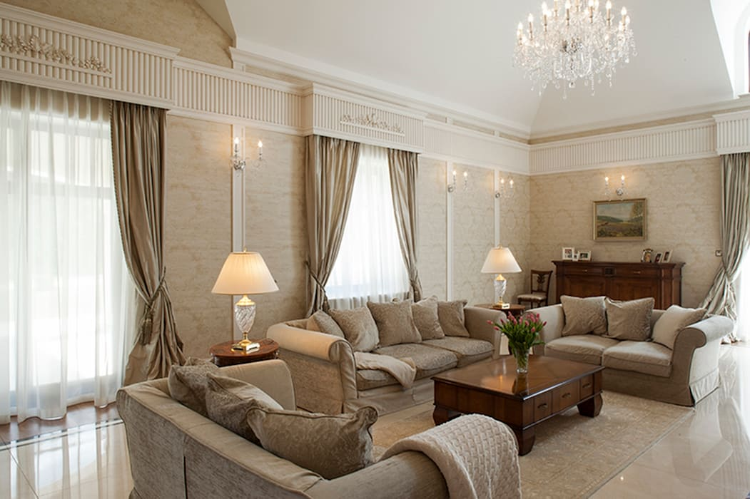 Classic style living room by Intelidom Group Sp. z o.o. Classic