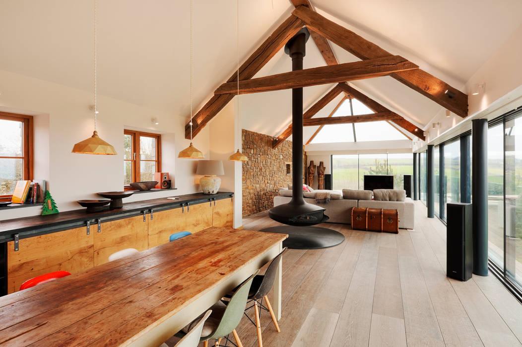 Down Barton, Devon Modern kitchen by Trewin Design Architects Modern