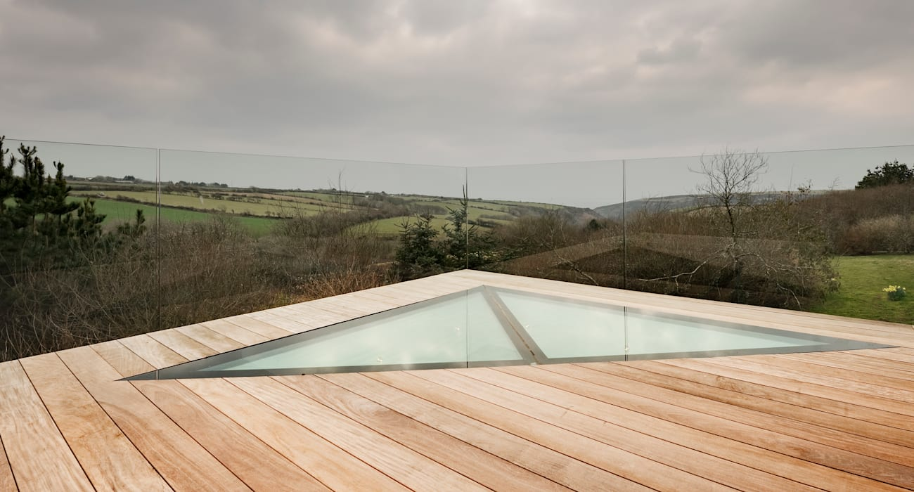 Down Barton, Devon Modern Terrace by Trewin Design Architects Modern