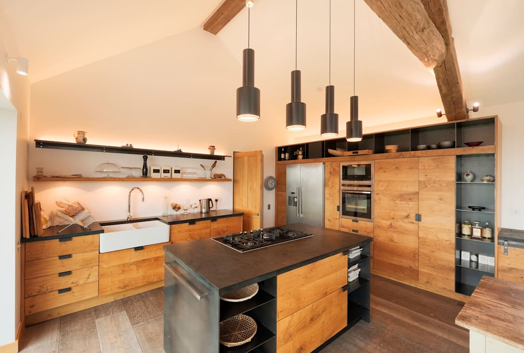 Down Barton, Devon Modern style kitchen by Trewin Design Architects Modern