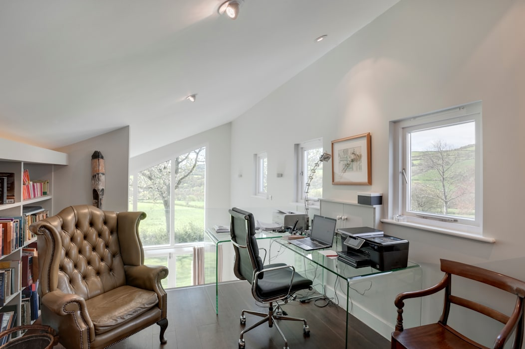 Hedgerows Trewin Design Architects Modern study/office