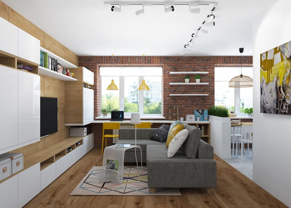 Salon minimaliste par 3D GROUP Minimaliste