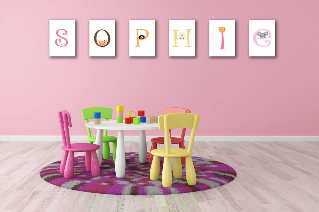Buchstaben-wanddekoration: kinderzimmer von omama-shop | homify