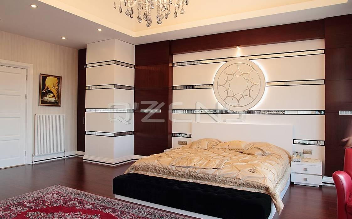 Keskin Konutu Modern Yatak Odası QZENS MOBİLYA Modern