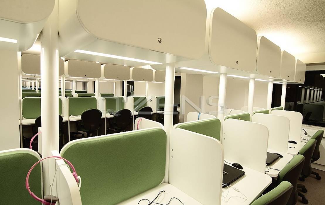 QZENS MOBİLYA – Pusula Çağrı Merkezi:  tarz Ofis Alanları, Modern