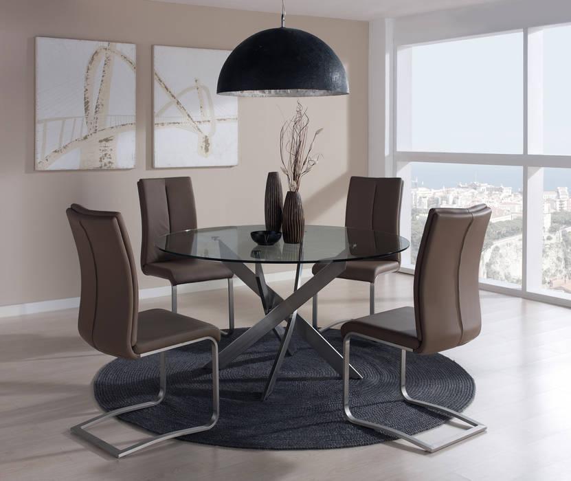 Conjunto comedor con mesa redonda: comedor de estilo de merkamueble ...