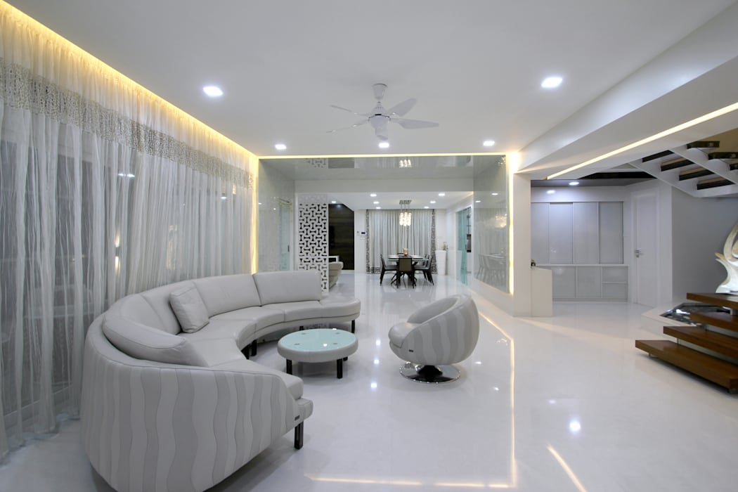 Lotus pond Modern living room by NA ARCHITECTS Modern