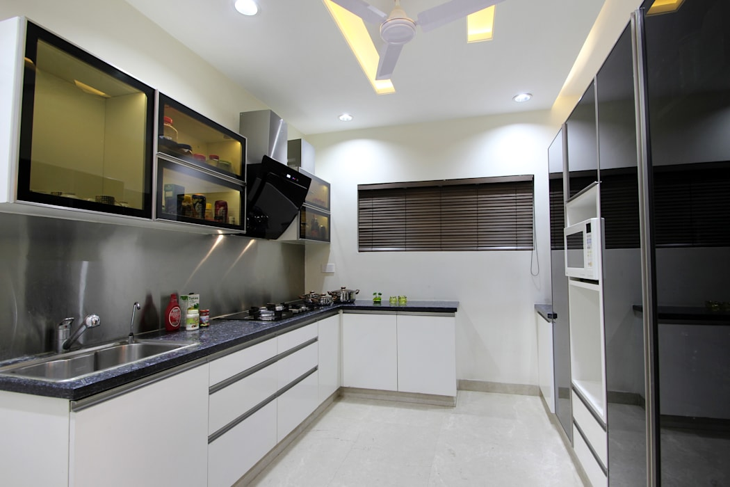 Flat Modern kitchen by NA ARCHITECTS Modern